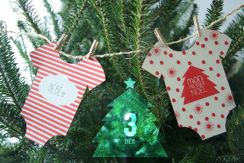 """""""Mon premier Noël"""" - une mini-guirlande pour le sapin © Myzotte déc.12"""