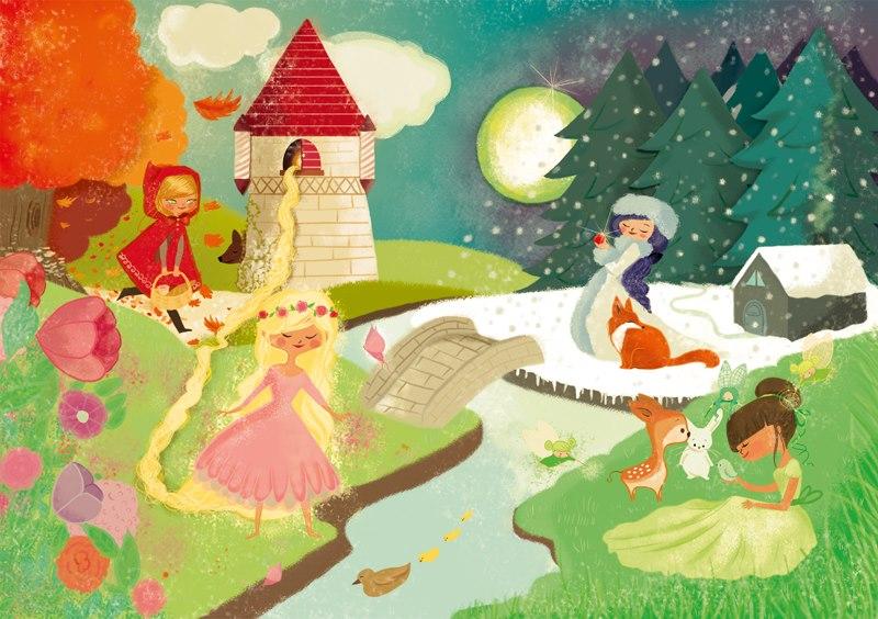 illustration les 4 saisons pour les éditions LA Marelle © Faustine