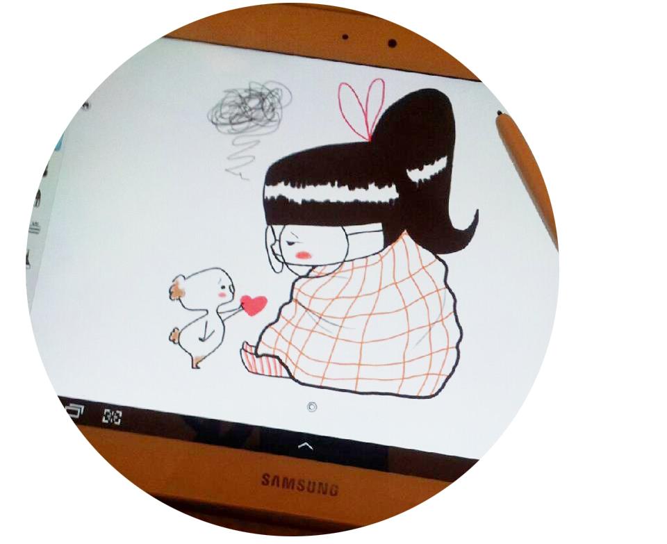 dessin à la tablette samsung par Faustine © tous droits réservés