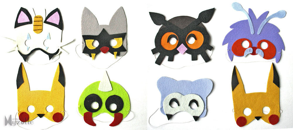 les-masques-pokémon-par-myzotte © reproduction commerciale interdite
