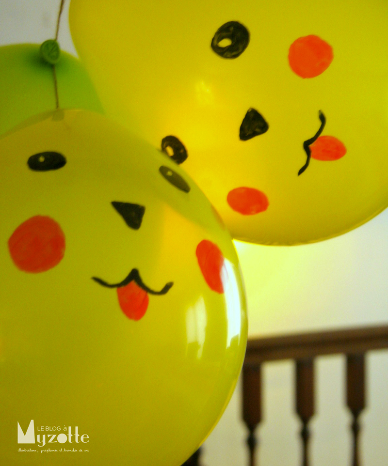 les ballons pikachu 