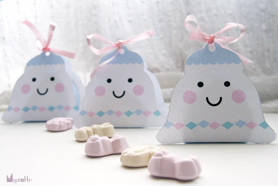 Des ballotins pour Pâques en forme de cloche © Myzotte
