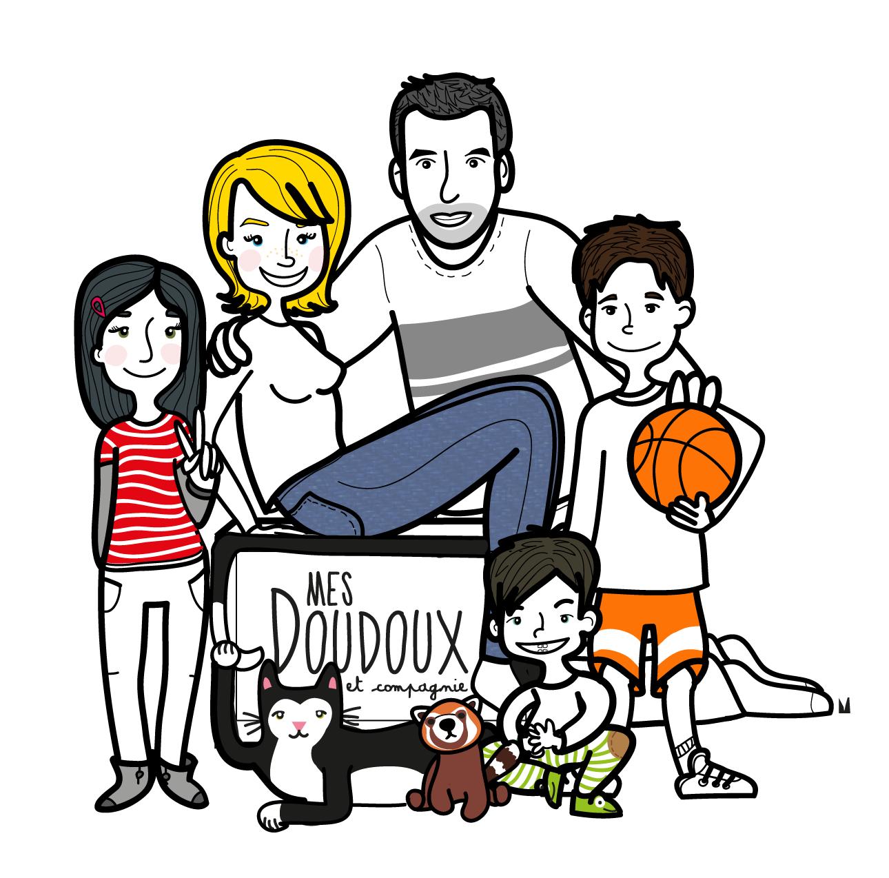 """famille """" mes doudoux et compagnie"""" © Myzotte - mars 2013"""