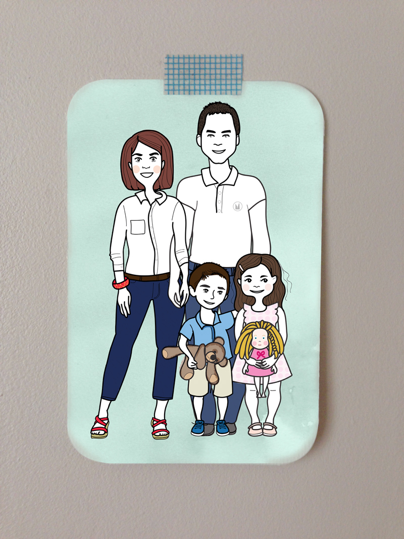 portait de famille version illustration © par myzotte